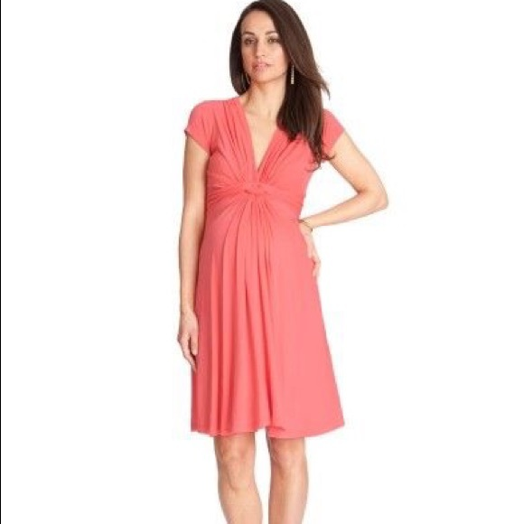 be1779f7d26 Seraphine Maternity Coral Jolene Dress. M 5ac9011cc9fcdfaacbd4dc6e